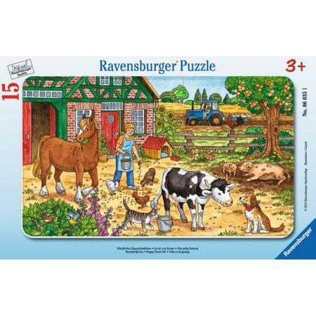 Ravensburger sestavljanka Hranjenje živali na kmetiji