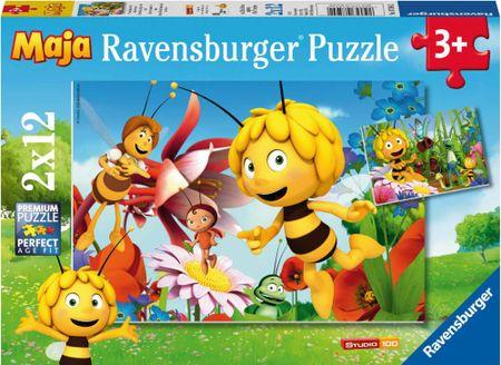 Ravensburger sestavljanka Čebelica Maja in cvetlični vrt 2x12d