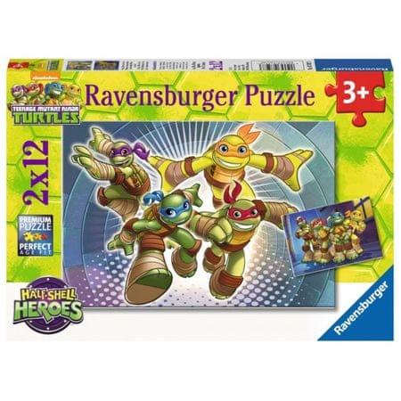 Ravensburger sestavljanka Ninja želvice v akciji 2x12d