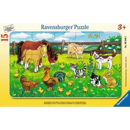 Ravensburger sestavljanka Domače živali na travniku
