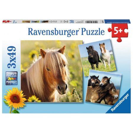Ravensburger sestavljanka Konji, 3x49d
