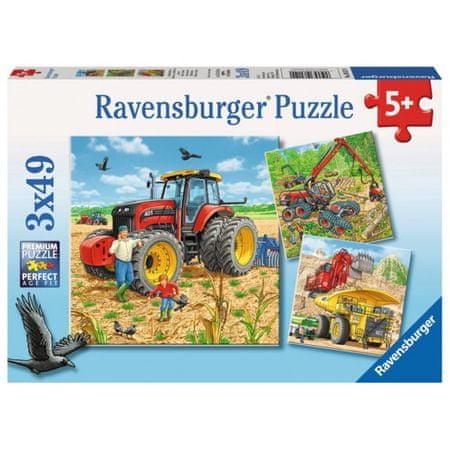 Ravensburger sestavljanka Stroji, 3x49d