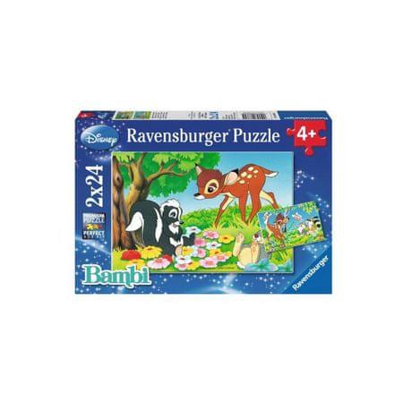Ravensburger sestavljanka Bambi in prijatelj,i 2x24d