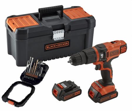 Black+Decker akumulatorski udarli vrtalnik/vijačnik 14,4V s priborom