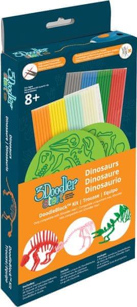 3Doodler Start - Sada šablon dinosauři