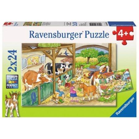 Ravensburger sestavljanka Živali na kmetiji, 2x24d