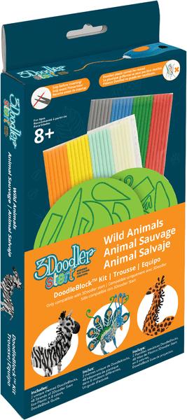 3Doodler Start - Sada šablon divoká zvířata
