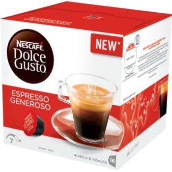 NESCAFÉ Dolce Gusto Espresso Generoso kava 112g (16 kapsul), trojno pakiranje