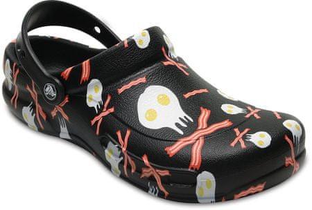 Crocs natikači Bistro Peppers Clog Black/White, 46,5