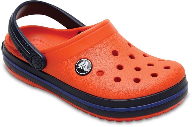 Crocs Classic Clog K Tangerine/Navy 24,5