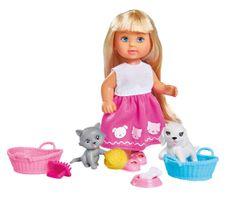 SIMBA laleczka Evi z pieskiem i kotkiem