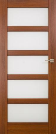VASCO DOORS Interiérové dveře BRAGA skleněné, model 6, Merbau, A