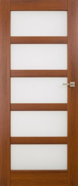VASCO DOORS Interiérové dveře BRAGA skleněné, model 6, Merbau, C