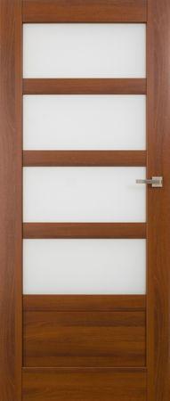 VASCO DOORS Interiérové dveře BRAGA kombinované, model 5, Kaštan, B
