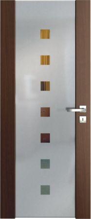 VASCO DOORS Interiérové dveře VENTURA SATINATO kombinované sklo - čtverce, Dub rustikál, D