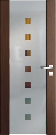 VASCO DOORS Interiérové dveře VENTURA SATINATO kombinované sklo - čtverce, Dub rustikál, B