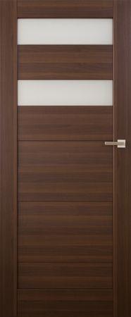 VASCO DOORS Interiérové dveře SANTIAGO kombinované, model 5, Kaštan, A