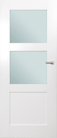 VASCO DOORS Interiérové dveře ARVIK kombinované, model 3, Bílá, D