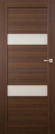 VASCO DOORS Interiérové dveře SANTIAGO kombinované, model 2, Kaštan, B