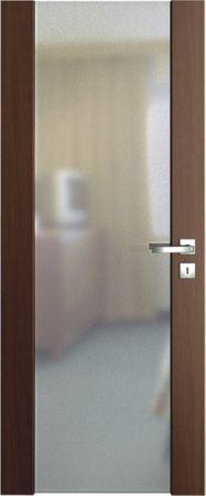 VASCO DOORS Interiérové dveře VENTURA SATINATO matné sklo, Dub rustikál, B