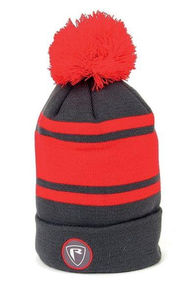 Fox Rage Čepice Red/Grey Bobble Hat