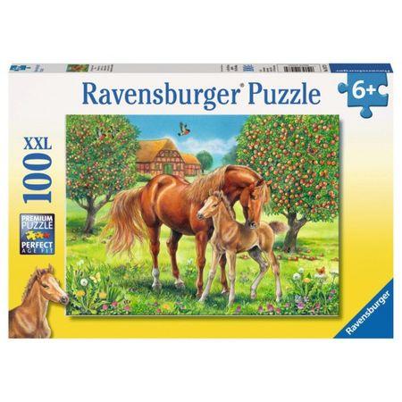Ravensburger sestavljanka Konji na polju, 100d