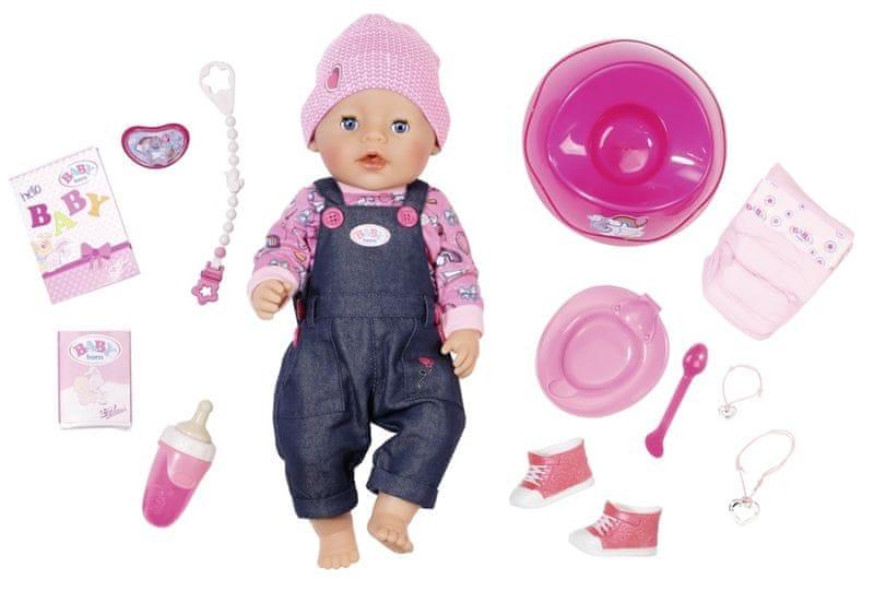 BABY born Interaktivní panenka - speciální džínová edice