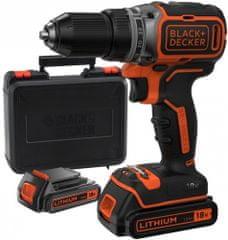 Black+Decker akumulatorski vrtalnik/vijačnik BL186KB, 18V, 1,5Ah