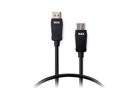 MAX MDP1150B kabel DisplayPort - DisplayPort 1.2 1,5m, černá