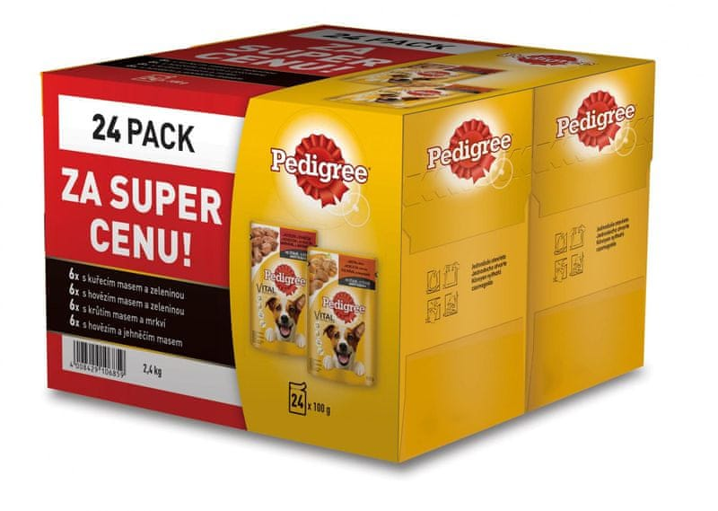 Pedigree kapsičky ve šťávě BONUS 24 pack