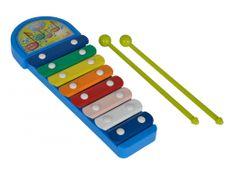 SIMBA MMW Xylofón modrý 8 kovových kláves
