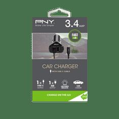 PNY Autonabíječka USB-C (P-DC-TC-K01-04-RB) Black