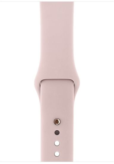 Apple Refurbished Watch Series 3, 42mm Gold Aluminium Case with Pink Sand Sport Band