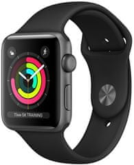 Apple zegarek Watch Series 3 GPS, 42mm Space Grey Aluminium Case with Black Sport Band