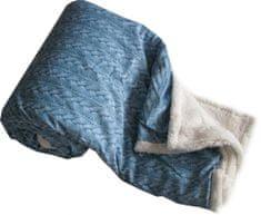 Jahu koc My House, baranek + warkoczyk Nor, 150 x 200 cm, niebieski