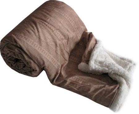 Jahu My House sötétbarna gyapjú takaró Nor 150x200 cm  87c6d257da