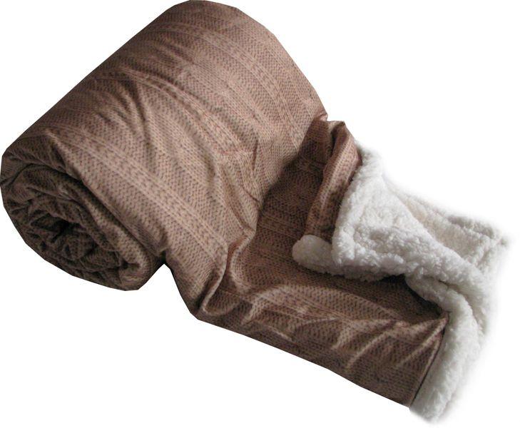 Jahu My House deka Beránek Nor 150x200 cm tmavě hnědá