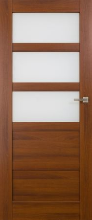 VASCO DOORS Interiérové dveře BRAGA kombinované, model 4, Merbau, D
