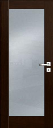 VASCO DOORS Interiérové dveře FARO skleněné, model 1, Ořech, D