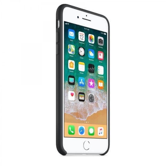 Apple silikonski ovitek iPhone 8/7 Plus Silicone Case - Black