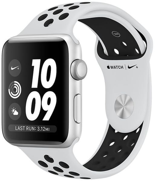 Apple Watch Series 3 Nike+ Gps, 38mm Silver Aluminium Case With Pure Platinum/Black Nike Sport Band