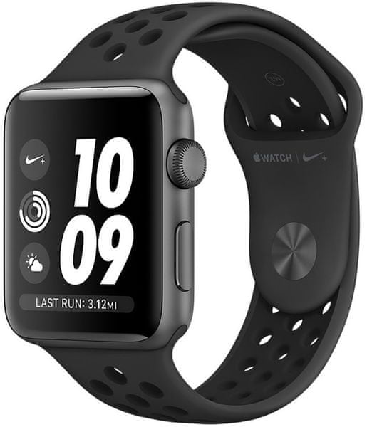Apple Watch Series 3 Nike+ Gps, 38mm Space Grey Aluminium Case With Anthracite/Black Nike Sport Band