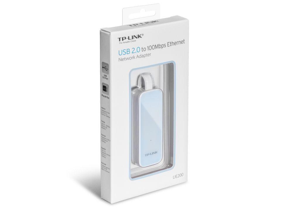TP-Link Síťový adaptér, USB 2.0, 10/100 Mbps, bílý (UE200)