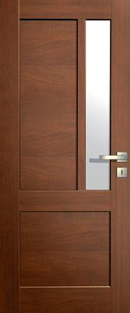 VASCO DOORS Interiérové dveře LISBONA kombinované, model 6, Ořech, A