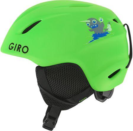 Giro otroška smučarska čelada Launch, mat zelena, 48,5-52 cm