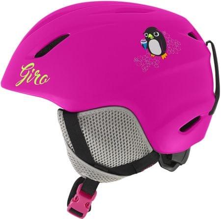 Giro otroška smučarska čelada Launch, mat roza, 48,5-52 cm
