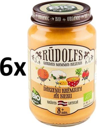 RUDOLFS Bio Pyré krémová polévka zelenina + sýr - 6x190 g
