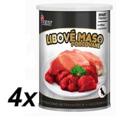 Akinu PREMIUM Libové maso pro psy 4 x 400g