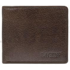 Lagen Pánská kožená peněženka 1154 Dark brown