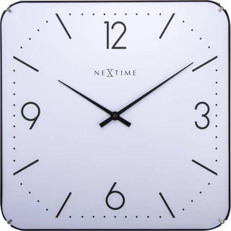 NEXTIME zegar ścienny Square Dome 3174
